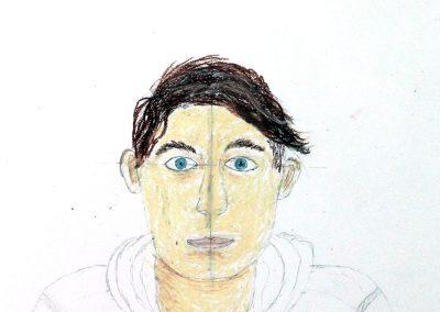 Kunst 9+10 Bild 1 - Bild des Menschen - Portraitzeichnen