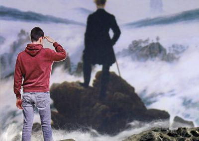 """Kunst 9+10 Bild 4 """"Mensch und Landschaft"""""""