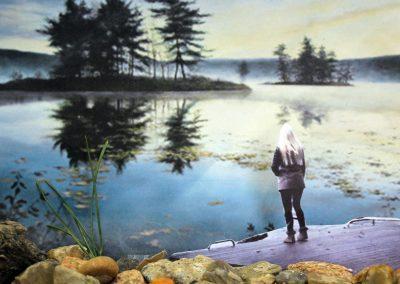"""Kunst 9+10 Bild 5 """"Mensch und Landschaft"""""""